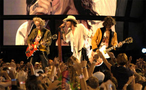 Aerosmith performs on the National Mall in Washington, DC, September 4, 2003