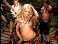 "Aguilera in the music video for ""Dirrty"" (2002)."