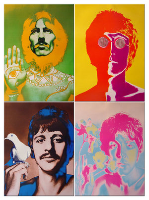The eye-popping psychedelic portraits of The Beatles created by Richard Avedon in 1967.
