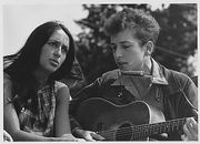 With Joan Baez during the Civil Rights March on Washington D.C., 1963