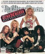 Guns 'N' Roses on the cover of Rolling Stone in 1988.