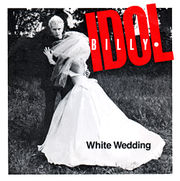 The picture cover of the 1982 White Wedding single