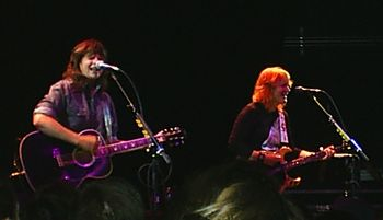 Indigo Girls at Park West in Chicago, September 18, 2005. (l-r: Amy Ray and Emily Saliers)