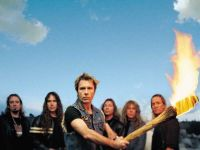 Left to right: Adrian Smith, Steve Harris, Bruce Dickinson, Dave Murray, Janick Gers, Nicko McBrain