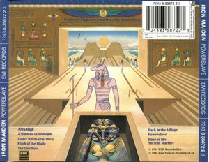 Back cover from Powerslave album