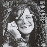 Janis Joplin on the cover of her posthumously released live album In Concert