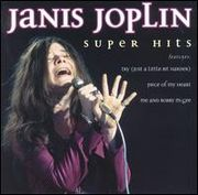 Janis Joplin singing, from the cover of the posthumous album Super Hits