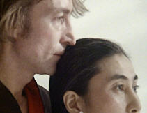 John Lennon and Yoko Ono in one of their last photo shoots, 21 November 1980