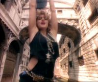 "Madonna's ""Like a Virgin"" music video."