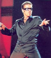 George Michael performing Fastlove