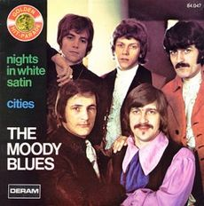 "The Moody Blues were best known for fusing an orchestral sound with rock and roll, as seen in one of their most popular songs, ""Nights in White Satin."""