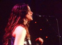 Alanis Morissette performing live in Munich on April 15, 2005.