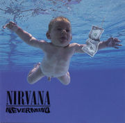 Nevermind album cover.  The baby pictured is Spencer Elden.