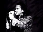 "Eddie Vedder in the video for ""Alive""."