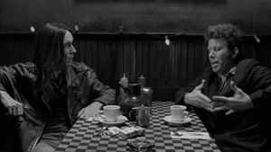 Iggy Pop (left) with Tom Waits (right) from the film Coffee and Cigarettes.