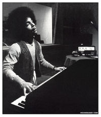 A young Prince composing in 1977