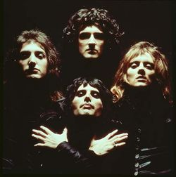 TOP :          Brian May MIDDLE LEFT :  John Deacon MIDDLE RIGHT : Rodger Taylor BOTTOM :       Freddie Mercury