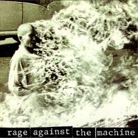 The photo cover of Rage's self-titled release from 1992. Thích Quảng �ức, a Vietnamese Buddhist monk, burns himself to death in Saigon in 1963. Thích was protesting the oppression of Buddhists led by U.S.-installed Prime Minister Ngo Dinh Diem's administration.