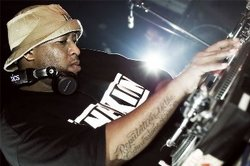 DJ Premier, a popular and influential hip hop producer and DJ from New York.