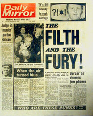 The cover of The Daily Mirror the day after the Grundy appearance.