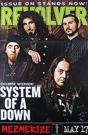 System of a Down on the cover of Revolver Magazine