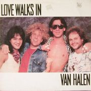 "Cover art for the hit single ""Love Walks In"" (1986)"