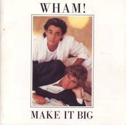 Andrew Ridgely (top) and George Michael on the cover of their second album